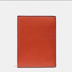 NWT Coach Leather Passport Case Wallet